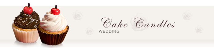 Cake Candle Wedding Favors