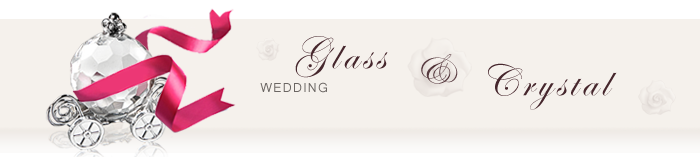 Glass and Crystal Wedding Favors
