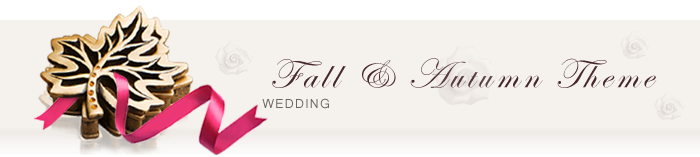 Fall & Autumn Wedding Favors
