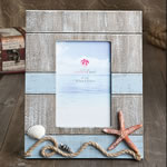 Lovely Beach themed frame with star fish and rope