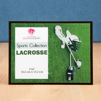 Unique lacrosse frame 4x6 from gifts by fashioncraft