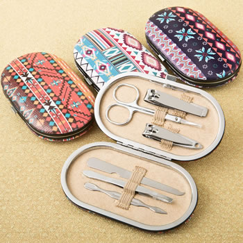 Trendy Aztec design travel manicure set from gifts by fashioncraft