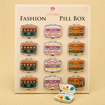 stylish aztec pill box from gifts by fashioncraft