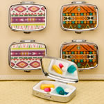 stylish aztec pill box from gifts by Fashioncraft®