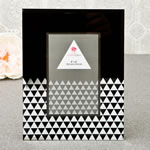 black geometric glass frame with mirror 4 x 6 from gifts by fashioncraft