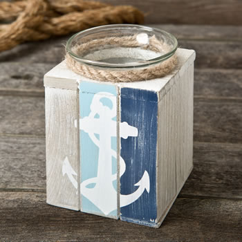Anchor candle holder with Candle from gifts by fashioncraft