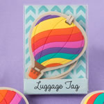 Hot Air balloon luggage tags from gifts by fashioncraft