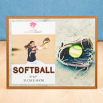 Stunning softball themed Frame 5 x 7 from Gifts By Fashioncraft