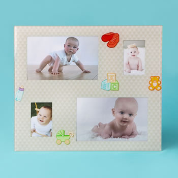Glass baby collage frame from gifts by fashioncraft