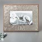 LOVE industrial style metal frame 4 x 6 from gifts by fashioncraft