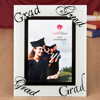 fabulous 5 x 7 graduation glass picture frame from fashioncraft