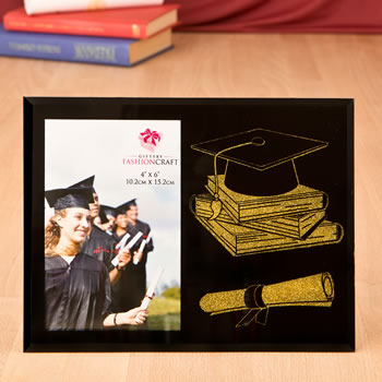 Graduation Themed Glass Frame From Gifts By Fashioncraft