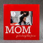 Glass MOM frame - 6 x 4 - Red and White
