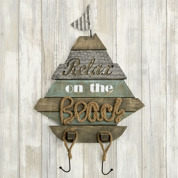 Boat Shaped wall sign - 'Relax on the Beach' From Gifts By Fashioncraft