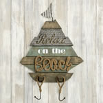 Boat Shaped wall sign - 'Relax on the Beach' From Gifts By Fashioncraft®