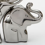 "set of 3 silver electroplated elephants - 5"", 9"" and 12"""
