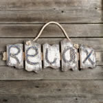 RELAX distressed wall plaque from gifts by Fashioncraft®