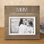 Wood frame with raised metal words - 6 x 4 - MOM
