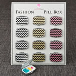Fabulous Glitter Chevron pill Box from gifts by Fashioncraft®