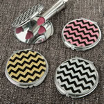 Glitter Chevron compact mirror from gifts by Fashioncraft®