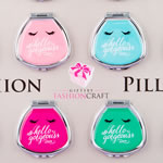 Cute Hello Gorgeous Fan Shaped Pill Box