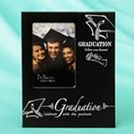 Black & Silver Graduation 2 x 3 mini frame from gifts by Fashioncraft®