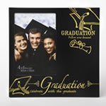 Black with gold 4 x 6 Graduation frame