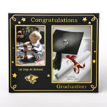 Black With Gold - First Day At School - Graduation Double Frame