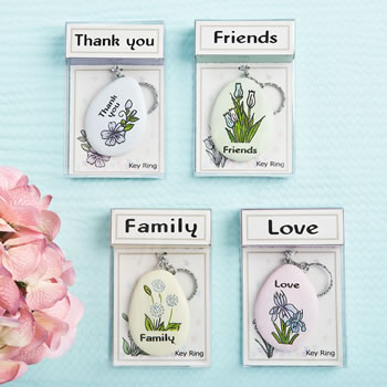 Sentiment flowers keychain from gifts by Fashioncraft