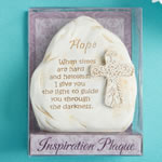 Inspirational Stone style Plaque with cross