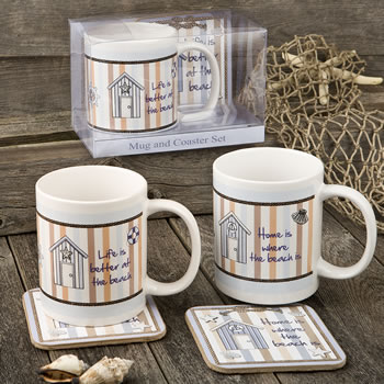 Nautical Mug & Coaster set - 2 assorted Designs from gifts by Fashioncraft®