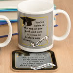 Grad mug & Coaster set - 2 assorted styles from gifts by Fashioncraft®