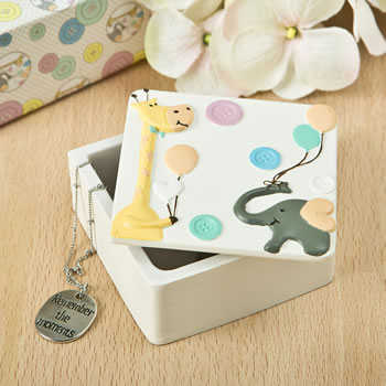 Giraffe and Elephant Covered Box from gifts by fashioncraft