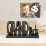 Grandkids photo holder in black from gifts by fashioncraft