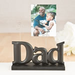Dad photo holder in black from gifts by fashioncraft