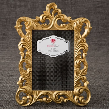 Gold Metallic Baroque Frame 5x7 From Gifts By Fashioncraft