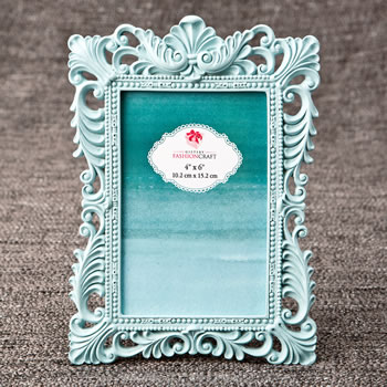 Exclusive teal 4x6 baroque frame
