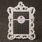 White Baroque 5 x 7 frame from gifts by fashioncraft