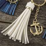 Tassel key chains with Anchor or Ships wheel from gifts by fashioncraft