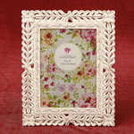 Ivory with rose Gold lattice 5 x 7 frame