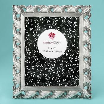 Exquisite Antique Silver Leaf design 8 x 10 frame: Fashioncraft