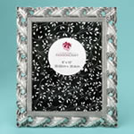 Exquisite Antique Silver Leaf design 8 x 10 frame