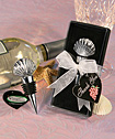 <i>Vineyard Collection&Trade;</i> Shell Design Wine Stopper Favors