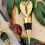 Gold angel wing all metal bottle stopper
