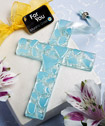<em>Murano Glass  Collection</em> Hanging Cross Favors (Blue)