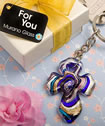 <em>Murano Collection</em> Cross Key Chain Favors