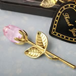 Choice Crystal Gold long stem pink Rose from Fashioncraft®