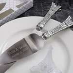 Engraved Eiffel Tower design cake set