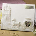 Engraved Fairytale design / Cinderella themed Guest book