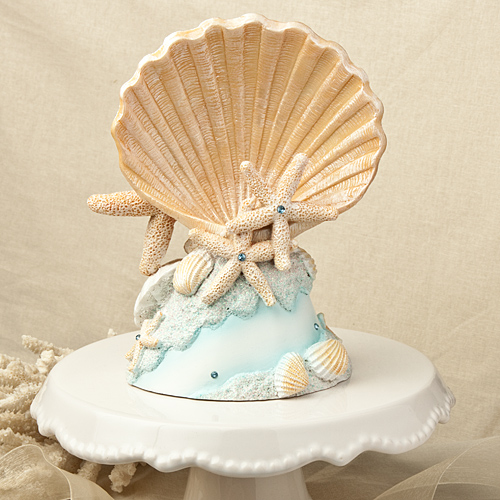 sea wedding cake toppers s a seashell sea shell summer destination 19732
